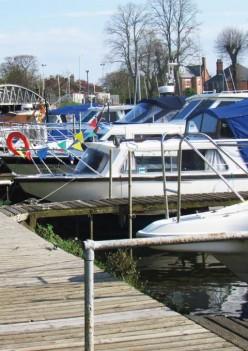 Boats Moored at Boston Marina